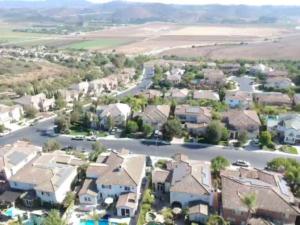 Tile roof neighborhood in Moorpark, CA