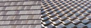 flat concrete tile roof flat and S-shaped